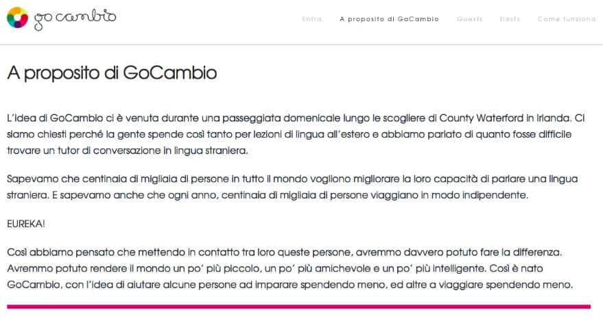 A proposito di GoCambio