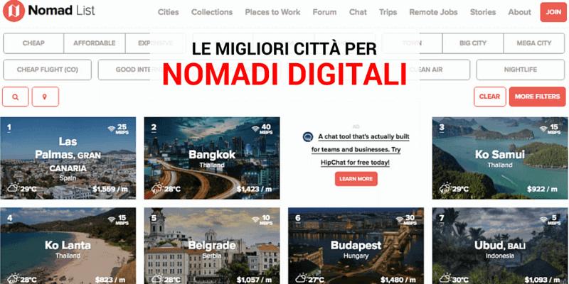 migliori città per Nomadi Digitali