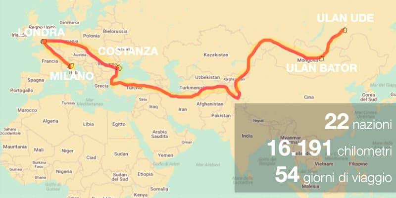 Mongol Rally Itinerario