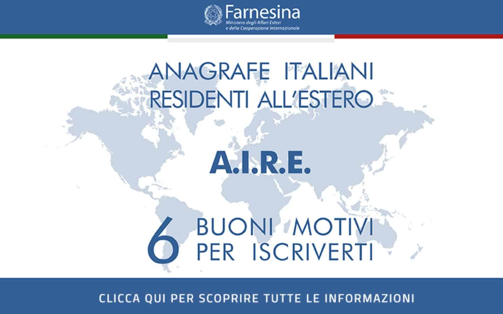 Aire significato italiani nel mondo estero