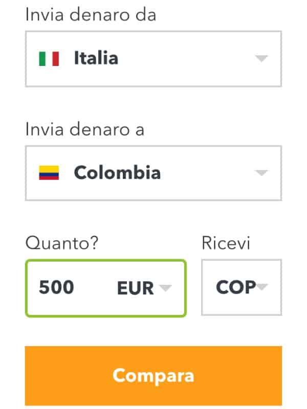 monito compara tariffe invio soldi estero